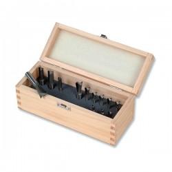 Sada 11 fréz LEIGH v dřevěné krabičce (2411-8)