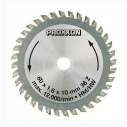 Řezný kotouč s tvrdokovovými zuby pro pilu Proxxon KGS 80