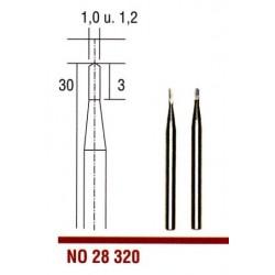 Tvrdokovové frézovací vrtáky Proxxon kopinaté 1 a 1,2 mm, 2ks