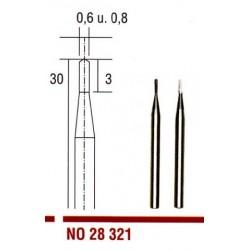 28321 Tvrdokovové frézovací vrtáky Proxxon kopinaté 0,6 a 0,8 mm, 2ks