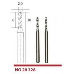 28328 Tvrdokovové mikrovrtáky Proxxon 2 mm, 2ks