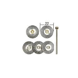 Ocelové kruhové kartáče Proxxon 22 mm - 5 ks