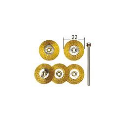 Mosazné kruhové kartáče Proxxon 22 mm - 5 ks