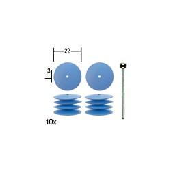 Elastické silikonové leštící čočky Proxxon 10 ks