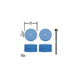 Elastické silikonové leštící kotoučky Proxxon 10 ks