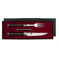 DM-0907 SHUN vidlička se steakovým nožem a podložkou