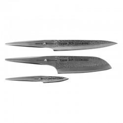 P-529HM Type 301 Hammered Sada 3 nožů CHROMA - P2HM+P5HM+P9HM