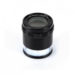 KIMAK Příložní lupa 10x PEAK s přísvitem LED